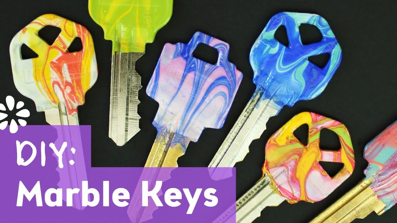 How to Make Water Marble Keys