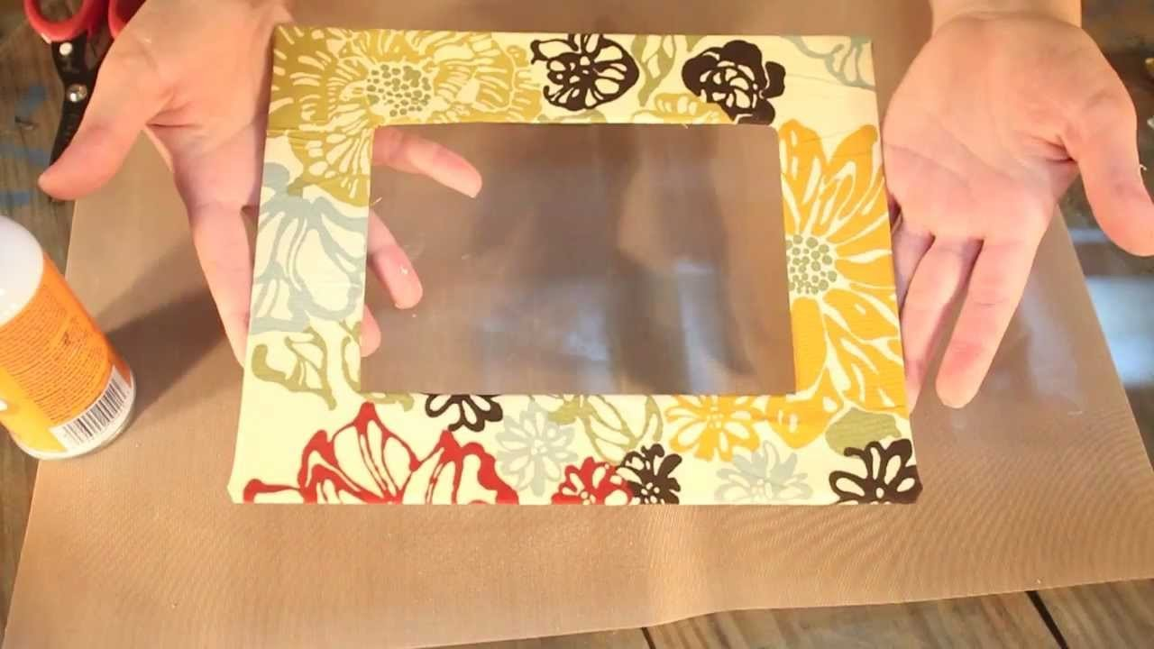 How-To wrap a frame mat with fabric