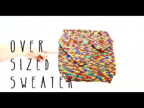Knitting Oversized Sweater Tutorial Part 8 of 11
