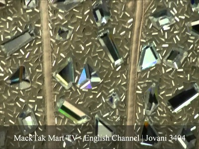 MackTakMart.com | Jovani 3404 | Strapless Sweetheart Dress Embellished With Large Mirrored Beads