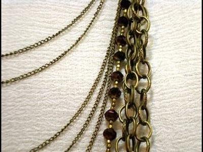 Multi Strand Chain Necklace Tutorial