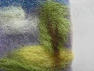 Needle felt Brooch of a landscape, Kentish textile art