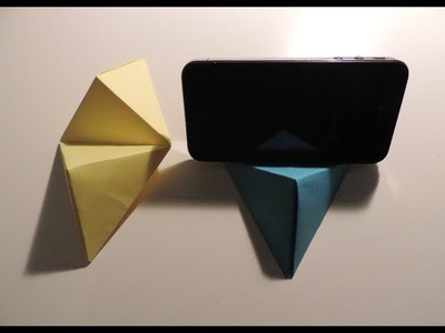Origami Cell Phone. Business Card Stand Instructions. (Full HD)