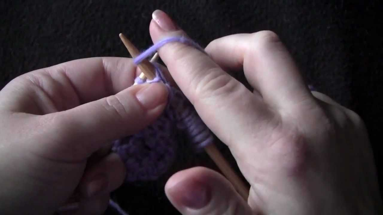 Purl Stitch - English Style