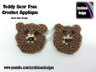 Rainbow Loom Teddy Bear Crochet Hook Only Applique - Loomless Amigurumi