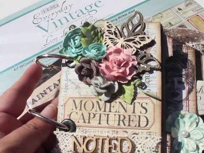 Scrapbooking Mini Art Journal Album FEB 27TH LWP Ustream