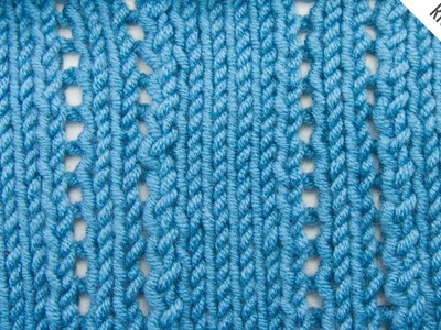 The Ploughed Acre Lace Stitch :: Knitting Stitch #523 :: Right Handed