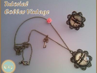 Tutorial Collar Vintage Diy