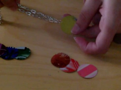 Tutorial: Rainbow Soda Can Necklace