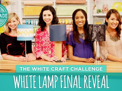 White Lamp Final Reveal - HGTV Handmade White Craft Challenge