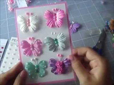 Wild Bunch - How to make Jeweled Butterflies - Kelly