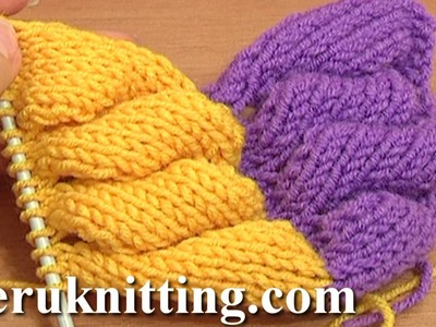 3D Knit Wheat Ear Stitch Pattern Tutorial 9 Part 1 of 2 Free Knitting Stitch Patterns