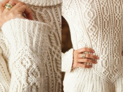 #4 Cabled Peplum Pullover, Vogue Knitting Holiday 2012