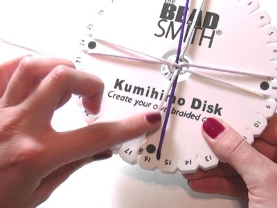 Beading Ideas - How to use Kumihimo loom part.1