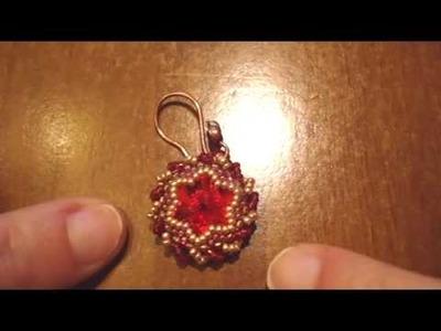 BeadsFriends: Beaded bezel Rivolis - My Swarovski Earrings | Beaded Jewelry