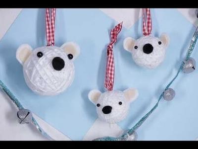 Christmas Crafts: Polar Bear Christmas Ornaments