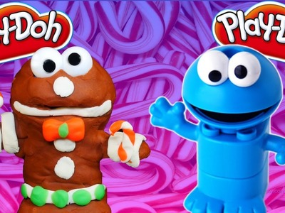 Cookie Monster Play Doh Gingerbread Man Play Dough Tutorial Cookie Monster Lego Duplo DIY