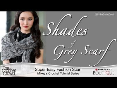 Crochet Shades of Grey Scarf Tutorial