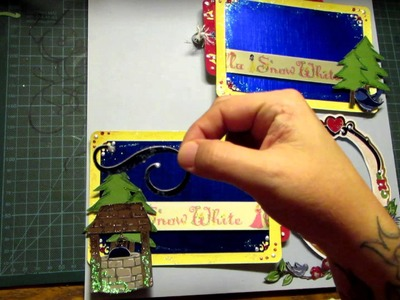 Disney's Princess Snow White Scrapbooking Page Layout Cricut Happily Ever After