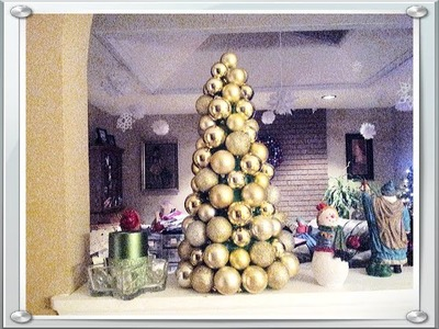 DIY Christmas Ornament Tree for Under $10 Dollar Tree Easy & Quick Tutorial