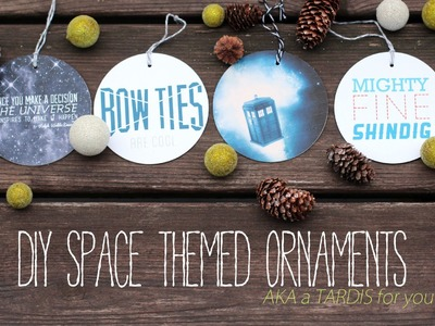 DIY Doctor Who and Firefly Ornaments