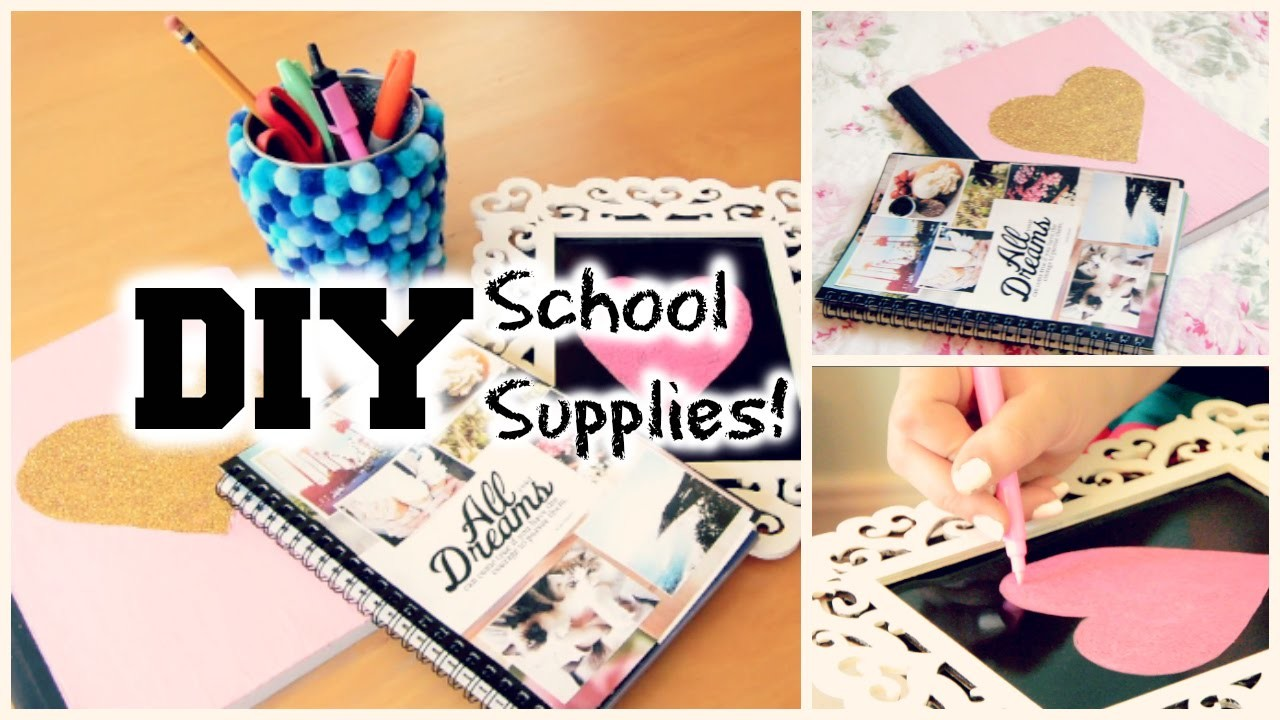 DIY School Supplies and Locker Decorations 2014!