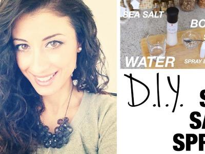 DIY Sea-Salt Spray for Beautiful Curls