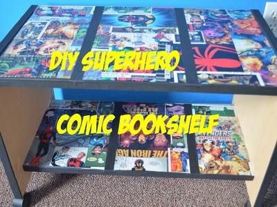 DIY: Superhero Comic Book Themed Bookshelf