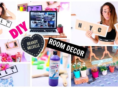 DIY Tumblr Inspired Room Decor : Brandy Melville Wooden Signs!