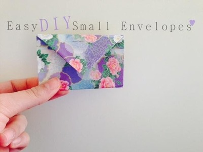 Easy DIY: Small Envelopes ♥ Gift Bag - Origami Paper