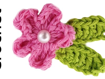 Easy Pearl Rose Free Crochet Pattern & Lesson - Right Handed