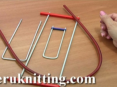 Hairpin Lace Crochet Tools Tutorial 1 Hairpin Lace Loom Bent Fork Staple Prongs Frame Bent Hairpin
