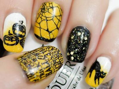 Halloween Nails (Konad Stamping)