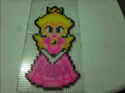 Hama Beads Princesa peach!