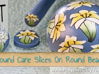 How To Apply Round Polymer Cane Slices to Round Beads