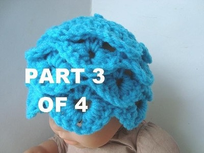 HOW TO CROCHET A CROCODILE STITCH HAT, Part 3 of 4