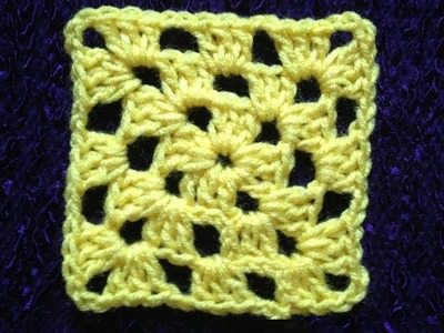 How to Crochet a Granny Square P #1 by ThePatterfamily
