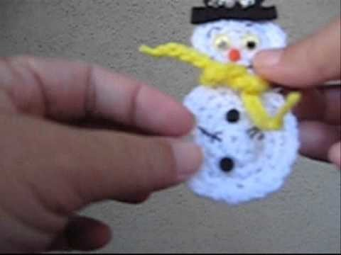 How to Crochet a Snowman Pin