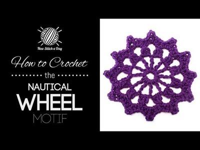 How to Crochet the Nautical Wheel Motif