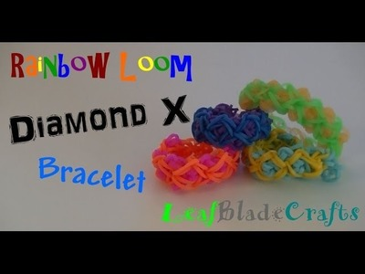 How to Diamond X Rainbow Loom Bracelet DIY Tutorial ONE LOOM