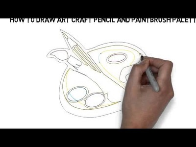 How To Draw Art Craft Pencil And Paintbrush Palette