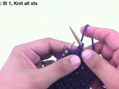 How to Knit the Half Fisherman's Rib