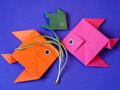 How to make a fish using origami paper- Origami