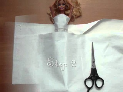 HOW TO MAKE a wedding dress for Barbie doll : My Outfits 32