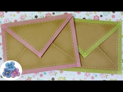 How to Make an Envelope with Washi Tape DIY Paper Envelopes Kawaii Making envelopes Mathie