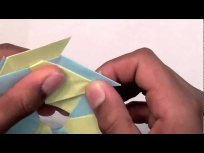 How to make an origami 8 pointed ninja star.frisbee reversable