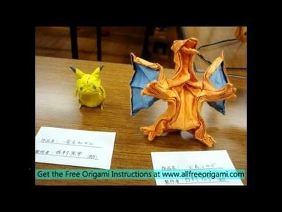 How to make an origami pikachu