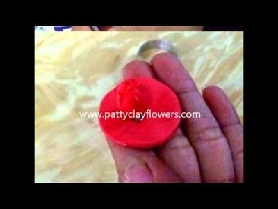 How to make Clay Flower Carnation tutorial. Polymer Clay. Sugar Craft. Cake Decoration DIY