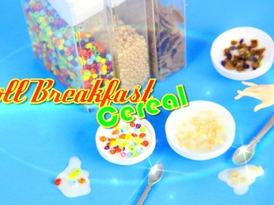 How to Make Doll Breakfast: Cereal - Doll Crafts