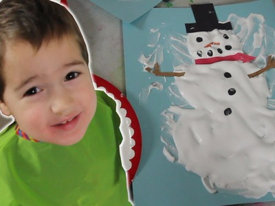 How To Make Puffy Paint Snowman [Crafts for Kids #6]